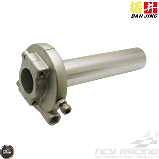 Ban Jing Throttle 7/8in Cam Type Silver (GY6, Ruckus, Universal)
