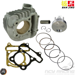 Ban Jing Cylinder 58.5mm Ceramic Nikasil Bore Kit w/Cast Piston Fit 54mm (GY6)