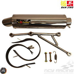 Ban Jing Exhaust Stainless Steel Performance (GY6)