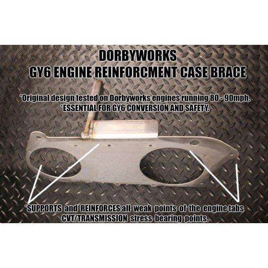 Dorbyworks CVT Case Brace Raw Steel (GY6 longcase)