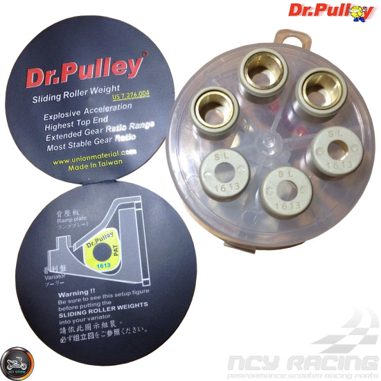 Dr  Pulley Variator Roller Weight Set 16x13 (DIO, GET, QMB)