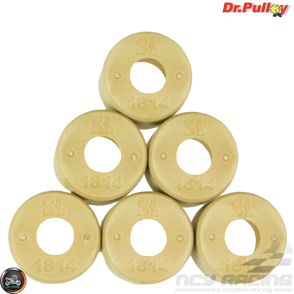 Dr Pulley 13.5gm 18x14 Round Roller Weights for Scooters WITH 150cc GY6 Motors