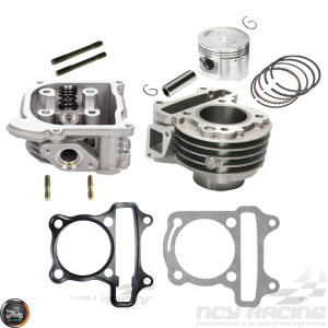 G- Cylinder 47mm 72cc 2V Cast Big Bore Kit Duo Combo Fit 69mm (139QMB)