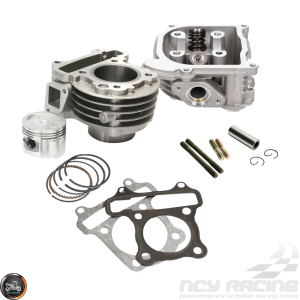 G- Cylinder 39mm 50cc 2V Cast Big Bore Kit Duo Combo (139QMB)