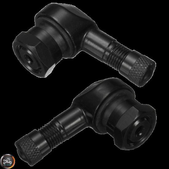 G- Rim Valve Stem 90° Bent Alumin Set (QMB, GY6, Universal)