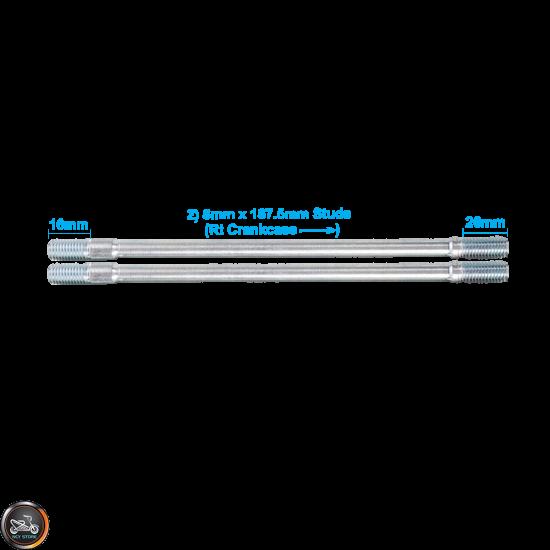 G- Cylinder Stud 187.5mm 2V Set (GY6)