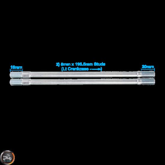 G- Cylinder Stud 195.5mm 2V Set (GY6)