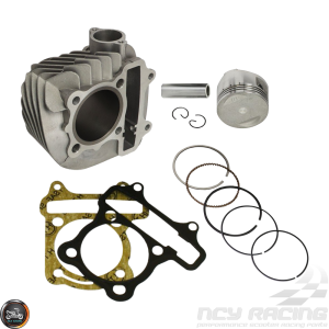 G- Cylinder 57.4mm 150cc Big Bore Kit w/Cast Piston Fit 56mm (GY6 ATV, Buggy, Quad)