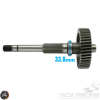 G- Final Drive Shaft 220mm w/Gear (GY6B)