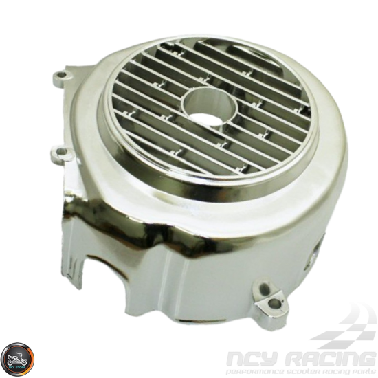 G- Fan Cover Emissions Chrome (GY6)