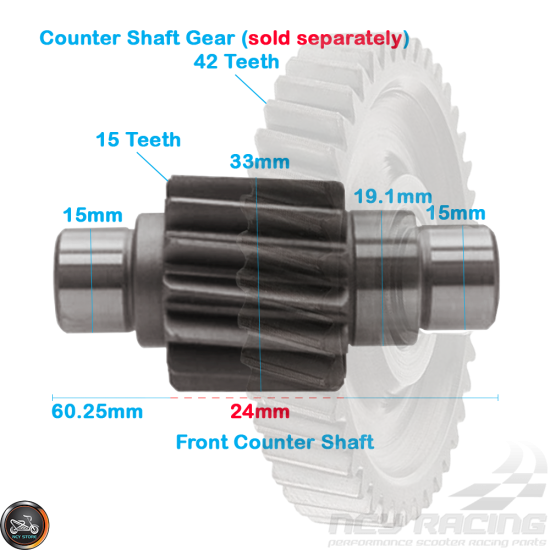 G- Gear Set 15*37 (GY6)