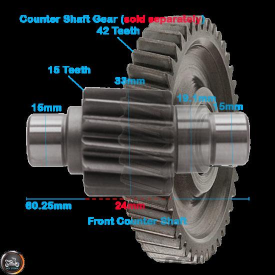G- Gear Set 15*38 (GY6)