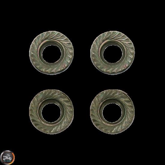 G- Cylinder Stud Nut M8x7.6mm Serrated Set (GY6, Universal)