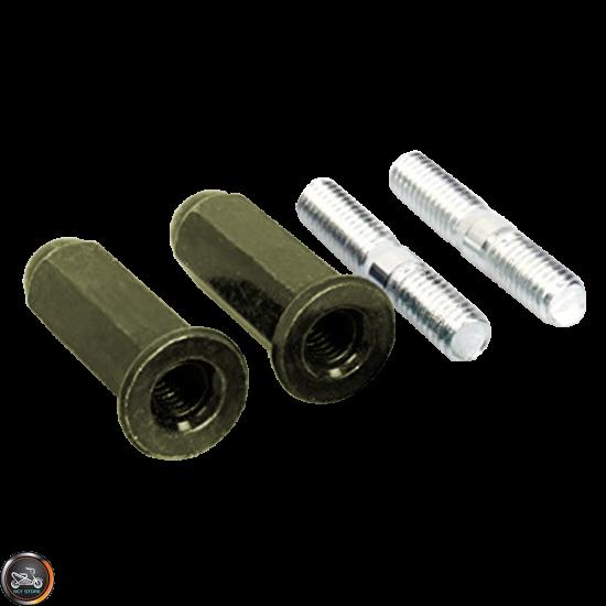 G- Exhaust Stud w/Nut Set (QMB, GY6)