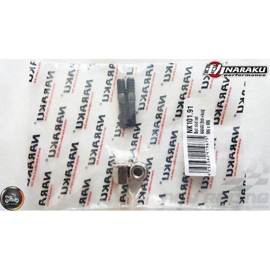 Naraku Exhaust Stud M6x32mm w/Nut Set (QMB, GY6)
