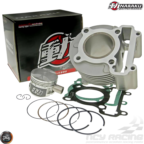 Naraku Cylinder 52mm 125cc Big Bore Kit w/4V Cast Piston (BWS, Zuma 125)
