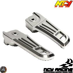 NCY Foot Rest Cover Aluminum Silver (Honda PCX)