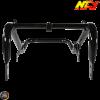 NCY Seat Frame Lowered Gloss Black (Honda Ruckus)