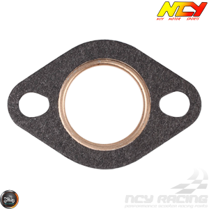 NCY Exhaust Gasket 27mm Steel & Fiber (QMB, GY6, Universal)