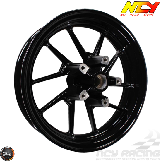 NCY Rim Front 12in Black 10-Spokes (BWS, Zuma 125)