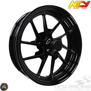 NCY Rim Front 12in Black 10-Spokes (BWS, Zuma 125)