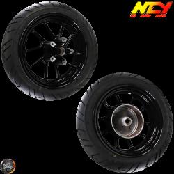 NCY Rim w/Tire Set 12in Black (BWS, Zuma 125)