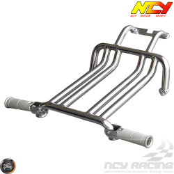 NCY Foot Rest Brace Kit Chrome (Ruckus, Zoomer)