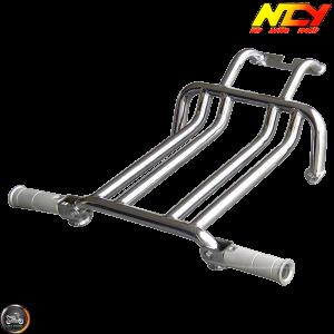 NCY Foot Rest Brace Kit Chrome (Ruckus, Zoomer)