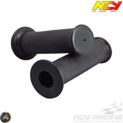 NCY Throttle Grip 7/8in Rubber Closed-End Black Set (GY6, Ruckus, Universal)