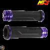 NCY Throttle Grip 7/8in Aluminum Rhinestone Indigo Set (GY6, Ruckus, Universal)