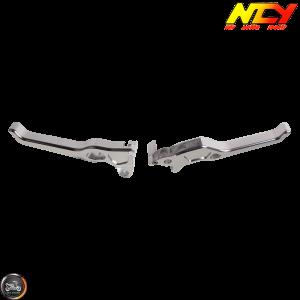 NCY Brake Lever Silver Set Disc Type (Ruckus, Zoomer)