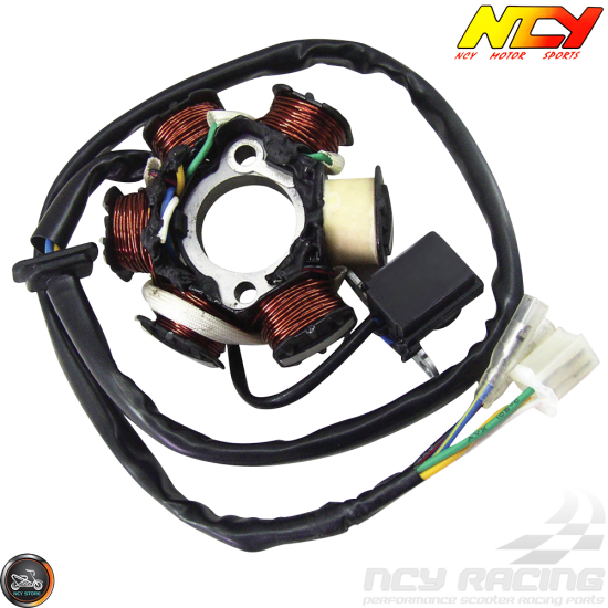 NCY Stator 6 Coil AC 5-Wire 2-Pin (GY6)