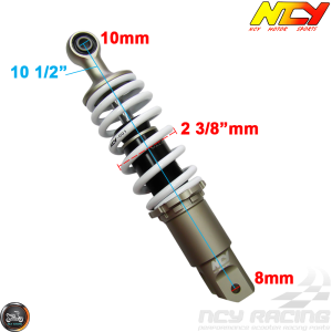 NCY Shock 265mm Adjustable Performance White (Honda Ruckus)