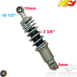 NCY Shock 265mm Adjustable Performance Chrome (Honda Ruckus)