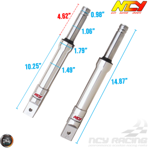 NCY Front Fork Silver Set Drum Type (Ruckus, Zoomer)
