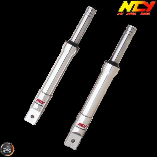 NCY Front Fork Silver Set Drum Type (Ruckus, Zoomer)