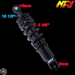 NCY Shock 265mm Adjustable Performance Black (Honda Ruckus)