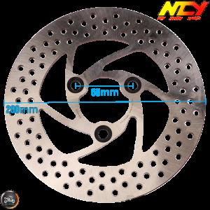 NCY Brake Disc 200mm Fixed w/Adapter (Buddy, JOG, Zuma 50)