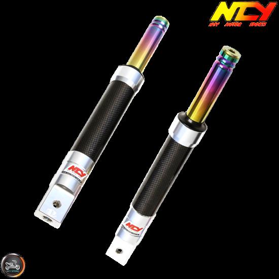 NCY Front Fork Carbon Fiber Set Performance Drum Type (Ruckus, Zoomer)