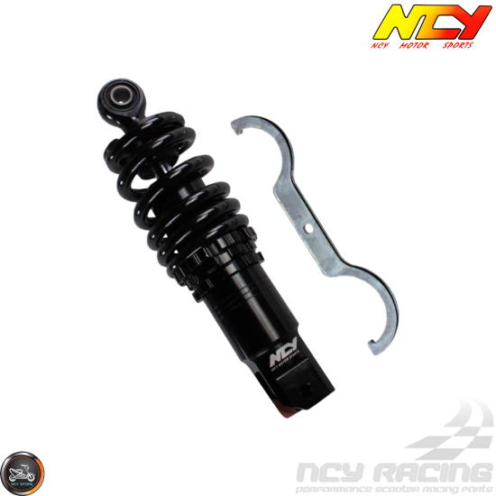 NCY Shock 219mm Adjustable Low-Down Black (GY6, Ruckus, Universal)