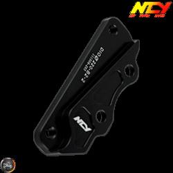 NCY Brake Caliper Adapter 220mm B2 Black (DIO, Ruckus)