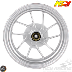 NCY Rim Front 10in Silver 10-Spokes (Honda Ruckus)
