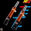 NCY Front Fork Orange Set Disc Type (DIO, Ruckus)