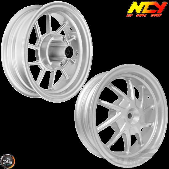 NCY Rim Set 10in Silver 10-Spokes (Honda Ruckus)