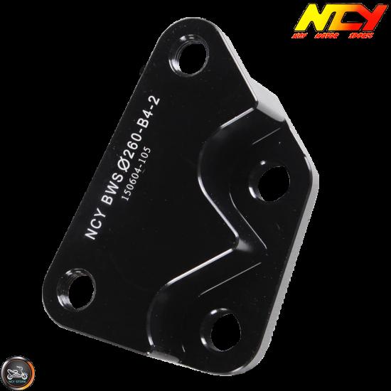 NCY Brake Caliper Adapter 260mm B4 Black (BWS, Zuma 125)