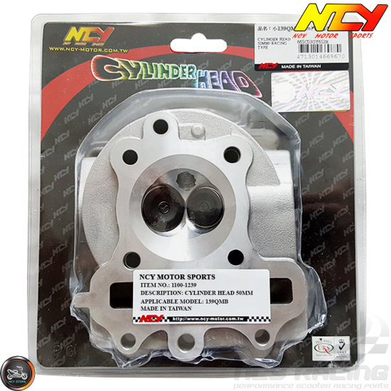 NCY Cylinder Head 50mm 81cc 2V (139QMB)