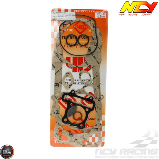 NCY Engine Gasket 63mm Set (GY6)