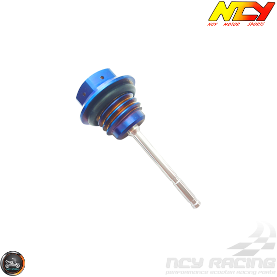 NCY Oil Dipstick Electroplated Titanium (QMB, GY6, Universal)