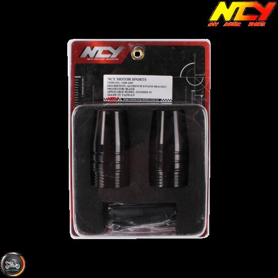 NCY Frame Slider Guard Black Set (Ruckus, Zoomer)