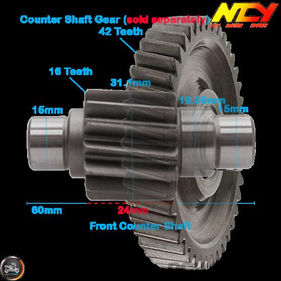 NCY Gear Set 16*36 (GY6)